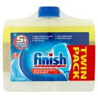 Finish lemon dishwasher cleaner twin pack - 2x250ml