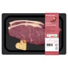 Waitrose British sirloin beef steak with pink peppercorn butter - 350g