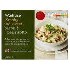 Waitrose bacon and pea risotto - 350g
