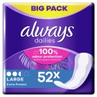 Always Dailies Large Pantyliner 52PK - 52s Brand Price Match - Checked Tesco.com 22/10/2014