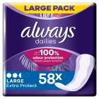 Alldays Always pantyliners 2 in 1 large - 52s Brand Price Match - Checked Tesco.com 05/03/2014