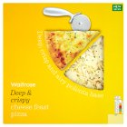 Waitrose deep & crispy cheese feast pizza - 450g