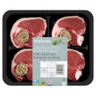 Waitrose lamb loin chops with mint & balsalmic stuffing -