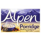 Alpen porridge blueberry, cranberry & nuts