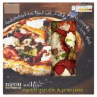 menu from Waitrose roasted vegetable & pesto pizza - 355g