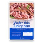 Wafer thin turkey ham