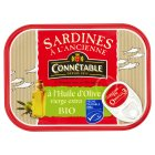 Connétable organic sardines in extra virgin olive oil