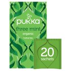 Pukka three mint 20 sachets - 32g