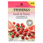 Twinings fresh & fruity cranberry & pomegranate