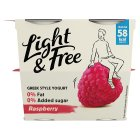 Danone Light & Free Greek Style Yogurt Raspberry - 4x115g