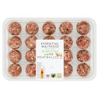 essential Waitrose 24 Welsh Lamb Meatballs - 610g