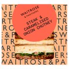 Waitrose Good To Go steak & onion chutney sandwich -