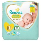 Pampers New Baby Size 1 Carry 23 Nappies - 22s