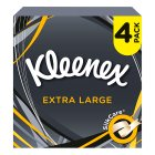 Kleenex Mansize Tissues, compact box quad pack - 4x50 sheets