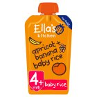 Ella's Kitchen Organic bananas apricots + baby rice - stage 1 baby food - 120g Brand Price Match - Checked Tesco.com 20/10/2014