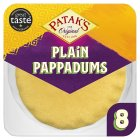 Patak's pappadums plain - 8s Brand Price Match - Checked Tesco.com 20/10/2014