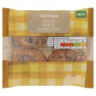 Waitrose 4 mini mustard pork pies - 200g