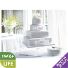 Fiona Cairns Ribboned Wedding Cake - Chocolate