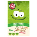 The Fruit Factory strawberry, apple & orange strings - 5x20g