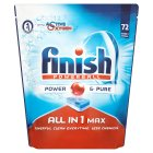 Finish Power & Pure All In One Max 72 Tablets - 1303g
