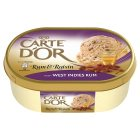 Carte D'Or rum & raisin ice cream dessert