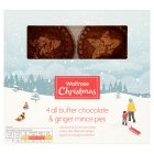 Waitrose Christmas Chocolate & Ginger Mince Pies - 4s