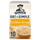 Quaker Oat So Simple golden syrup porridge cereal sachets - 360g