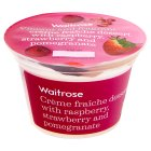 Waitrose Crème fraîche dessert with raspberry, strawberry and pomegranate