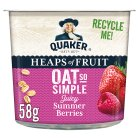 Quaker Oats So Simple Heaps of Fruit berries porridge cereal pot - 58g Brand Price Match - Checked Tesco.com 27/07/2015