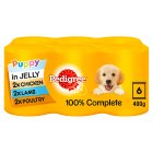 Pedigree puppy can selection in jelly - 6x400g