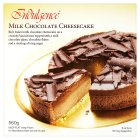 Indulgence milk chocolate cheesecake