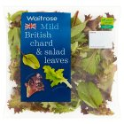 Waitrose Mild British Chard & Salad Leaves - 100g