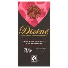 Divine Fairtrade dark chocolate with raspberries, 70% cocoa - 100g