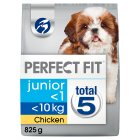 Perfect fit junior/puppy small dry dog food in chicken - 825g