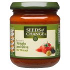 Seeds of Change organic tomato & olive stir through sauce - 195g