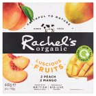 Rachel's luscious fruits peach & mango - 4x110g