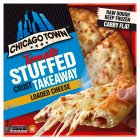Chicago Town takeaway four cheese sauce stuffed crust pizza