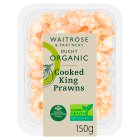 Waitrose Duchy Organic Cooked King Prawns - 150g