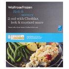 Waitrose Frozen 2 Cod with Cheddar, Leek & Mustard Sauce - 320g Introductory Offer