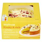 Waitrose white chocolate & strawberry cake -