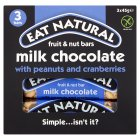Eat Natural peanuts, cashews, cranberries & milk chocolate bars - 3x45g