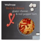 Waitrose goats' cheese & red pepper tart