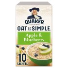 Quaker Oat So Simple apple & blueberry porridge 10S - 360g Brand Price Match - Checked Tesco.com 30/07/2014