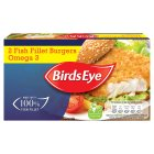 Birds Eye 2 cod fish fillet burgers - 227g