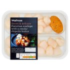 Waitrose Peruvian scallops with chipotle butter - 195g