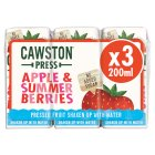 Cawston Press kids' blend apple & summer berries - 3x200ml