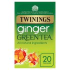 Twinings ginger green tea 20s - 40g Brand Price Match - Checked Tesco.com 23/07/2014