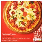 Waitrose stone baked mozzarella & cherry tomato & pesto pizza - 377g