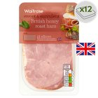 Waitrose British honey roast ham, 12 slices - 240g