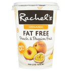 Rachel's organic fat free peach & passionfruit yogurt - 450g